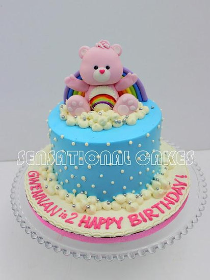 Children custom cake series - topper collection - bear toppers with rainbow
