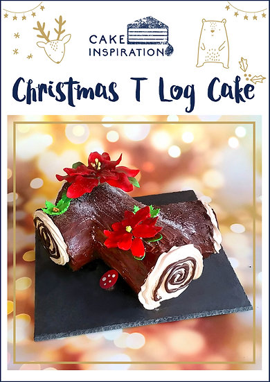 NEW! Christmas T Log Cake ( CLC#01 )