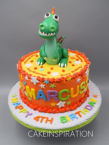 Topper collection - design 9 cute dinosaur figurine name cake