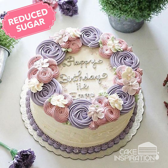 ROSETTE CREAM ART COLLECTION - Design 31 ( Sweet looking perfect rosette wreath)