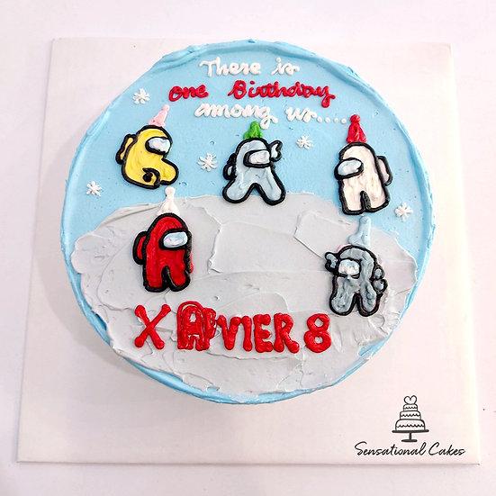 Game Impostor , Boys Theme , 2D Design Children Cake
