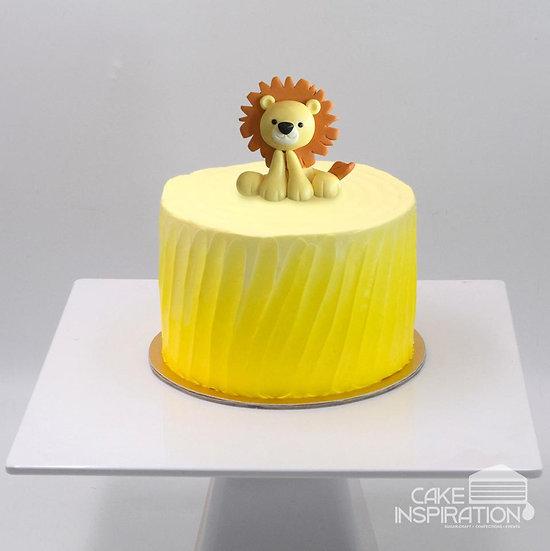 Design t/ cute little baby lion cream cake - children customized d-i-y