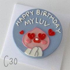 Cartoon Style - Hearts In Love Cake ( C30 )