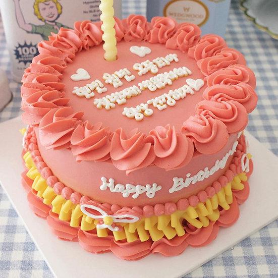 Pet Pink Princess Designer's Theme Birthday Cake