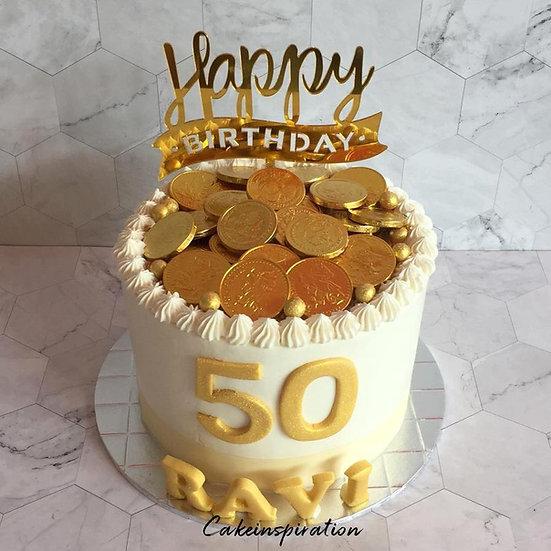 Money drawing cake design N