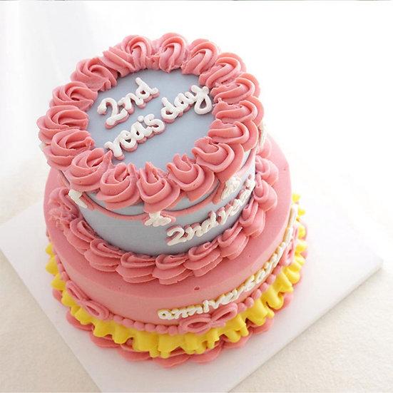 Pet Birthday Party Tier Theme Cake ( 4+6 inch tier )