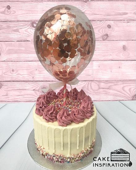 Balloon confetti - design 04 ( pastel maroon drip confetti )