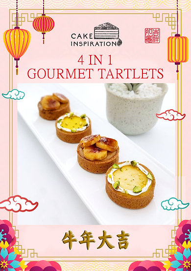 4 in 1 Gourmet Tartlets - Peanut butter Banana & Mango with Pistacho