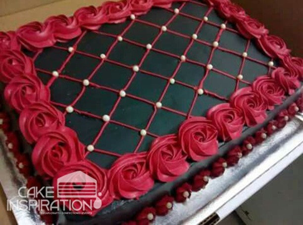ROSETTE CREAM ART COLLECTION - DESIGN 29 (chocolate ganache cake)