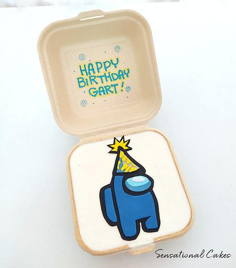 Game Impostor Children Theme Bento 2D Customized Mini Cake