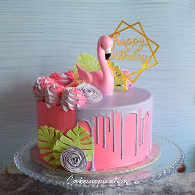 Flamingo Retro Cake