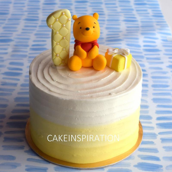 Design h / bear topper cream cake - children customized d-i-y cream art