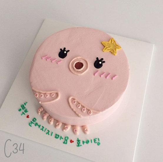 Cartoon Style - Cute Octopus Cake ( C34 )
