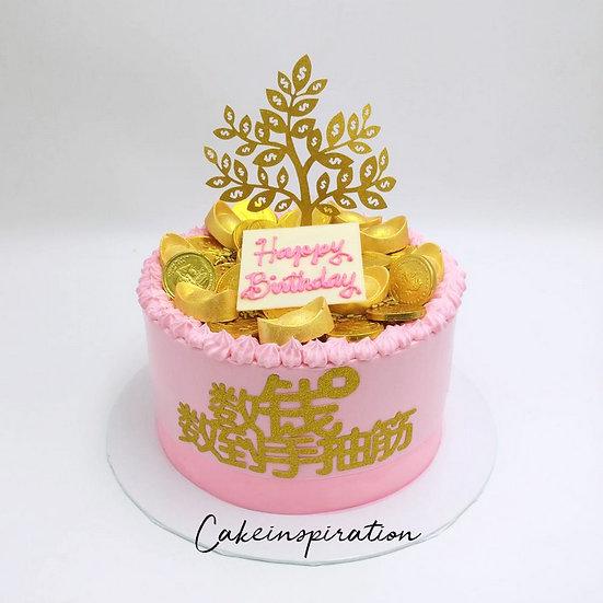 Money drawing cake design A