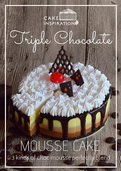 Gâteau triple au chocolat français - Triple Chocolate Cake