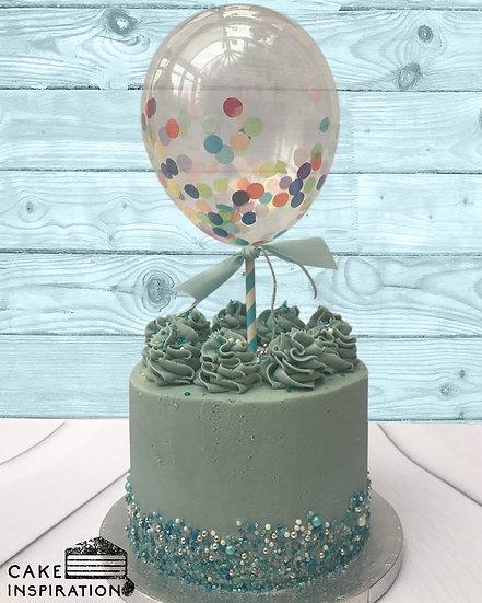 Balloon confetti - design 15 ( pale blue green confetti)