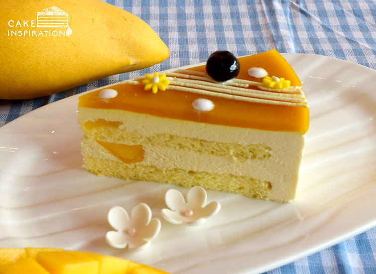Midnight Mango Mousse Slice Cake