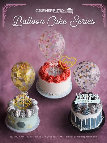 Balloon Confetti Cake Collection