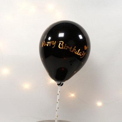 Balloon cake topper - black / gold ( no 10 )