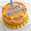 Thumbnail: Pet Orange Party Lace Piping Designer's Theme Birthday Cake