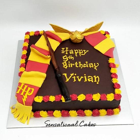 Design cake for group - design 8 - Wizard theme children Chocolate Cake