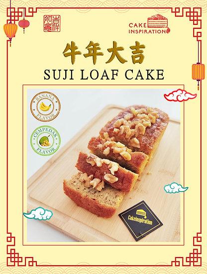 CNY Special Suji Loaf Cake ( Banana / Cempedak flavor )