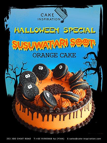 Susuwatari Soot Orange Drip Cookies N Cream Cake