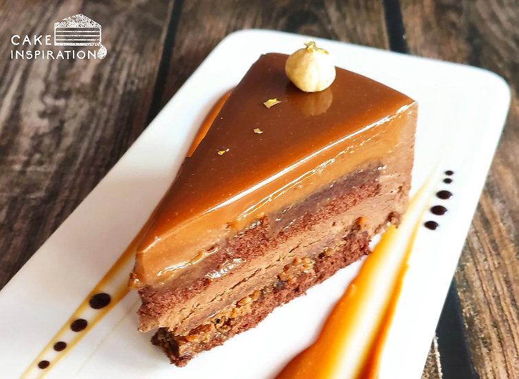 Hazelnut Praline Slice Cake