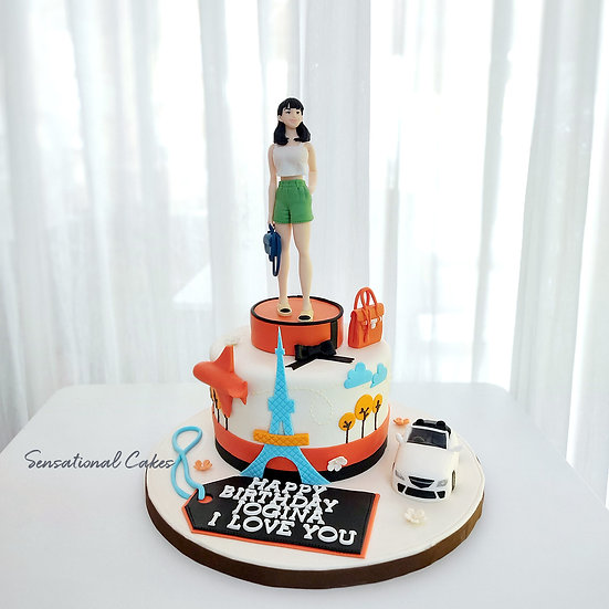 Travel High-end Classy Lifestyle BMW / Bag Design Woman 3D Customized Cake
