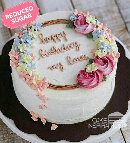 ROSETTE CREAM ART COLLECTION - DESIGN 27 ( wreath design flower cake rosette )