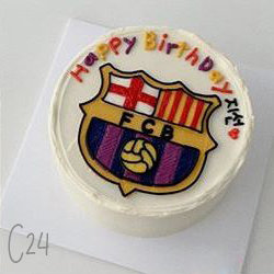 Cartoon Style - FCB Sports Cake ( C24 )