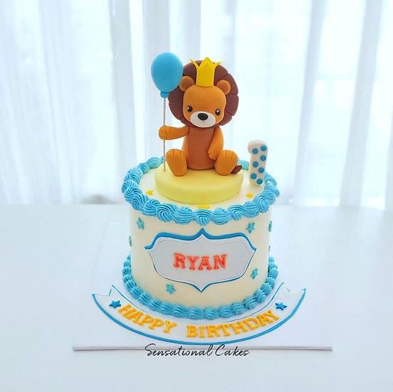 1st Birthday Baby Lion Animal Design Children 3D Customized Cake
