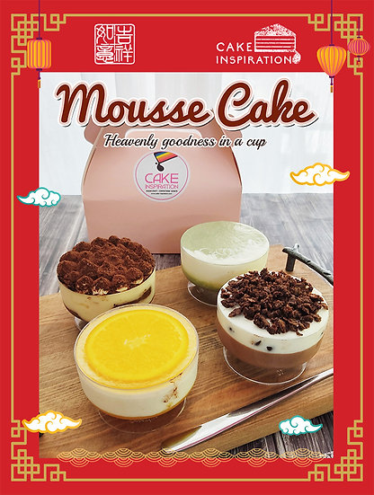 CNY Special 4 in 1 Assortment Layered Mousse Cake in Cup