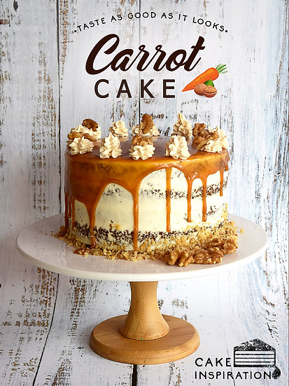 Carrot Walnut Caramel Cheesecake