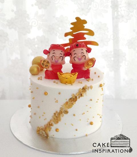 Longevity Topper Cake #15 - Gods of Fortune / Gold Tag