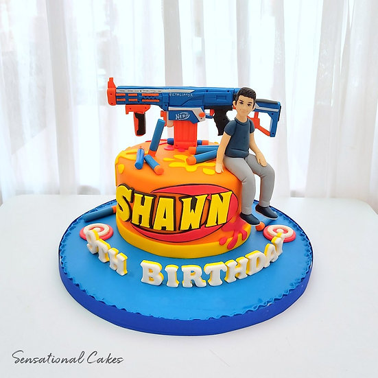 Game Play Target Man 3D Sugarcrafted Customized Cake