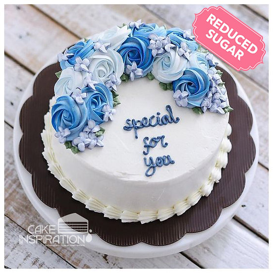 ROSETTE CREAM ART COLLECTION - DESIGN 46 (NEW ) DEEP BLUE THEME