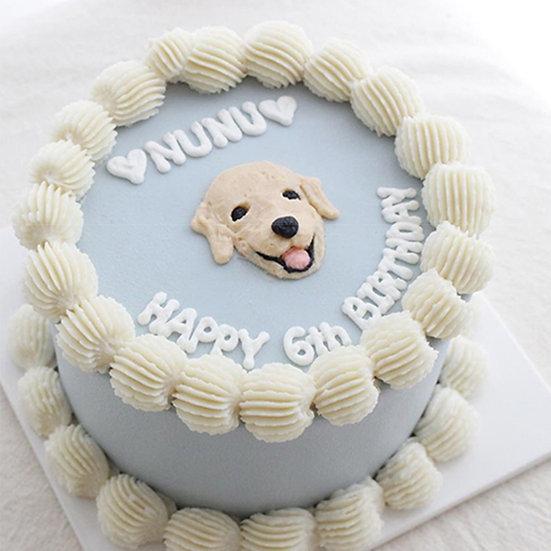 Pet Simple Pastel Blue Designer's Theme Birthday Cake