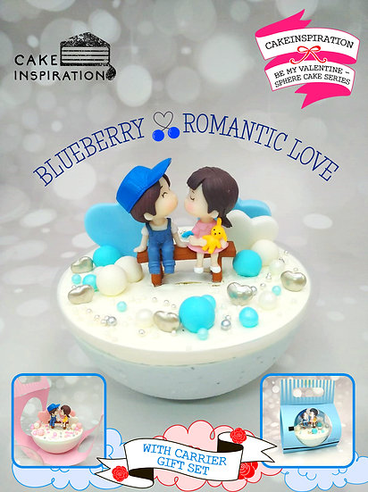 Blueberry Romantic Love - Design A Sphere Cake Series