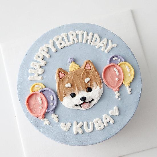 Pet Balloon Fiesta Designer's Theme Birthday Cake - 6inch