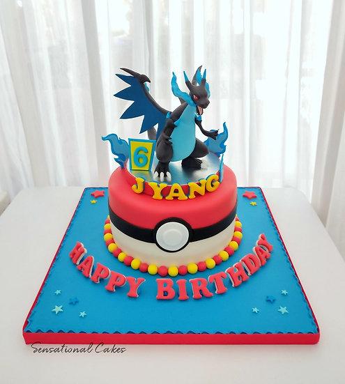 Monster Fire Dragon Anime , Children Boy 3D Customized Cake