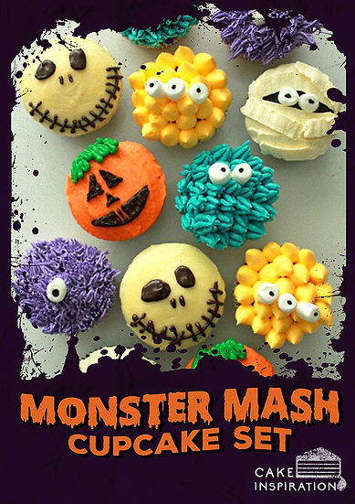 Monster Mash Assorted Cupcake set of 6pcs / 1 day lead time