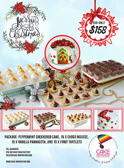 Christmas Combo package 4-in-1 ( Christmas Peppermint cake Combo )
