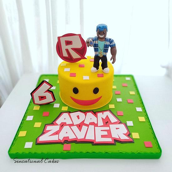Robo Blocks Boys Children 3D Sugarcrafted Customized Cake