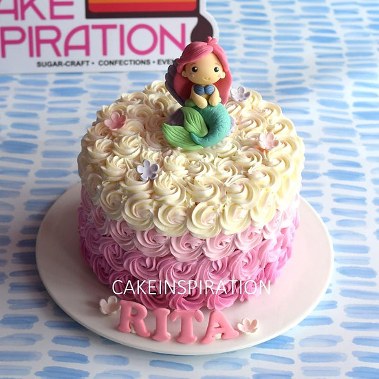 Design k /cute mermaid toppers cake - children customized d-i-y cream art cake