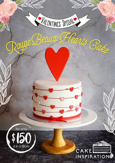 Rouge Beaux Hearts Cake