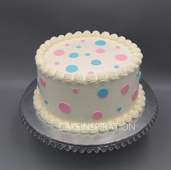 Children mum to be custom cake series - design 1 - Gender reveal cake