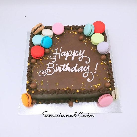 Design cake for group - design 1 - Chocolate Ganache