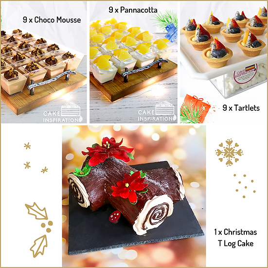 Christmas Combo package 4-in-1 with T Log Cake ( CPC#32 )