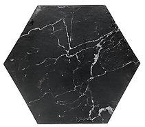Cake Board design 11 - Black Marble Hexagon